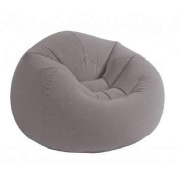 Intex 68579, надувне крісло 107 x 104 x 69 см, сіре
