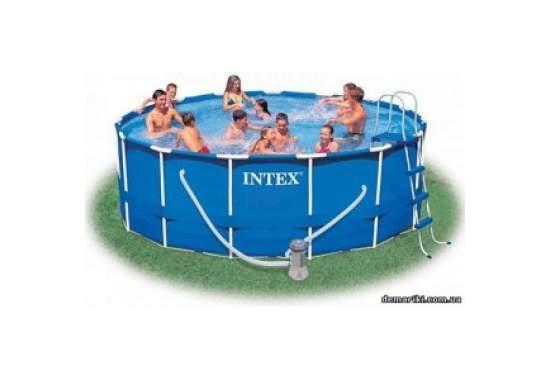 Intex 28218, каркасний басейн 366 x 99 см Metal Frame Pool