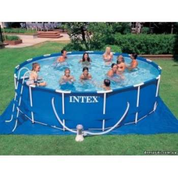Intex 28234, каркасний басейн 457 x 107 см Metal Frame Pool