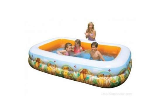 Intex 57492, надувний дитячий басейн Король Лев