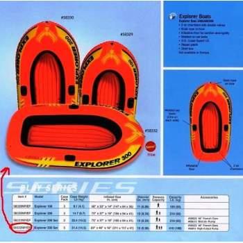 Intex 58331, надувная лодка EXPLORER-200