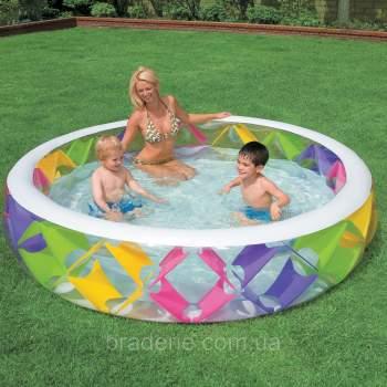 Intex 56494, надувний дитячий басейн Ромбики